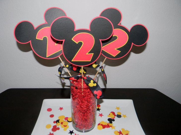 37 Adorable Mickey Mouse Birthday Party Ideas | Table ...