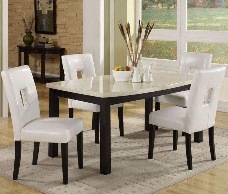 39 Elegant Granite Dining Room Table Ideas | Table Decorating Ideas