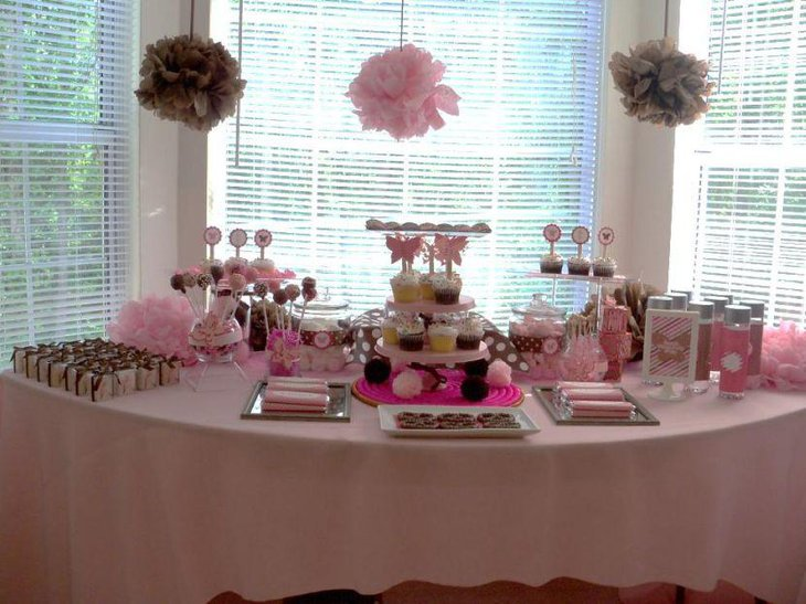 35 cute baby shower themes for girls table decorating ideas - Decoration baby shower girl ...