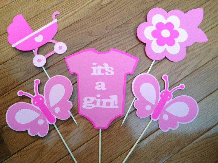 35 adorable butterfly baby shower ideas table decorating for Baby shower decoration cutouts