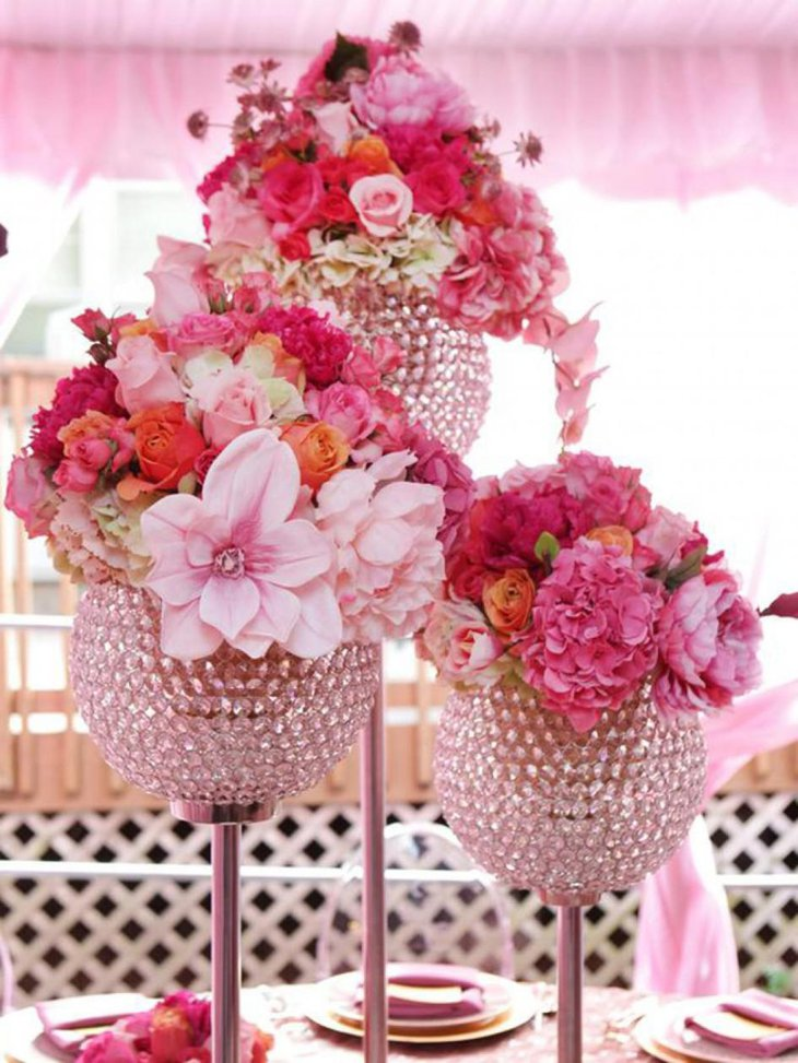 Centerpiece Floral Arrangement Ideas : Elegant floral centerpieces for wedding table