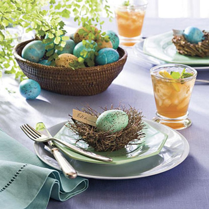 Fast And Easy Indoor DIY Easter Table Settings