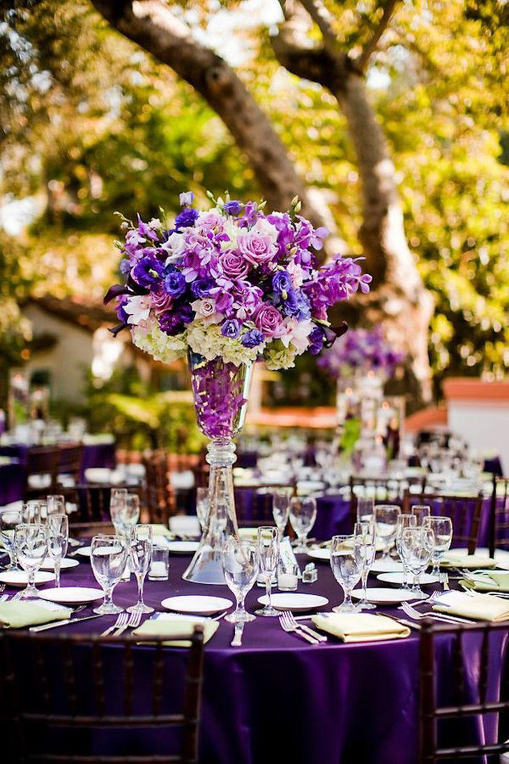 37 trendy purple wedding table decorations table for Garden table decorations