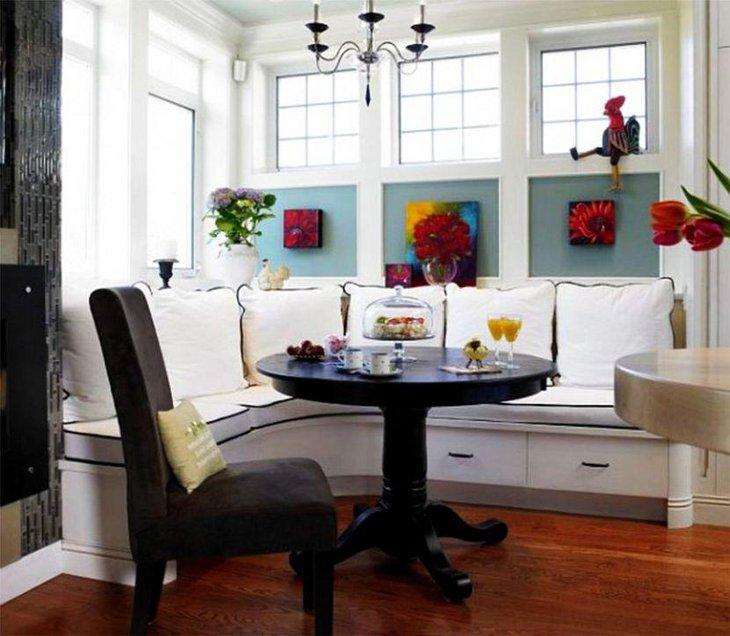 35 Exquisite Breakfast Nook Ideas   Table Decorating Ideas
