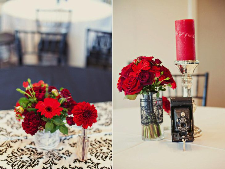 37 elegant floral centerpieces for wedding table for Small fresh flower table arrangements