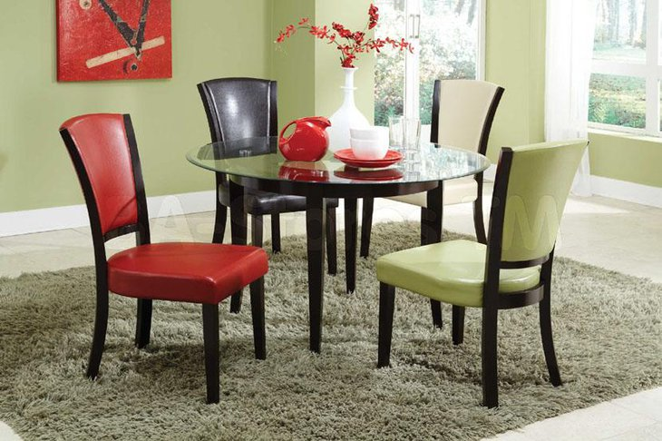 37 elegant round dining table ideas table decorating ideas for Trendy dining sets