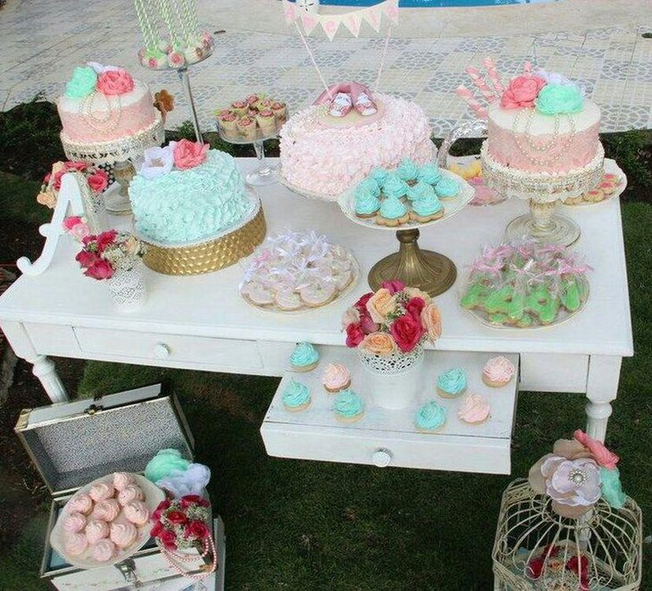 Nature Themed Baby Shower: 35 Cute Baby Shower Themes For Girls